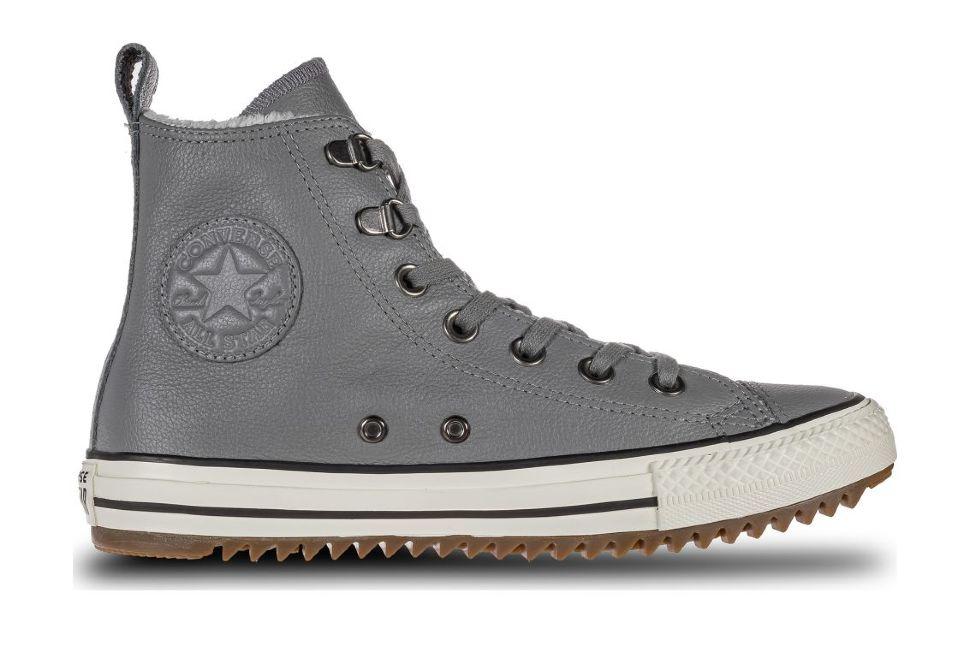 5ac08299 Кожаные кеды Converse Chuck Taylor All Star Hiker Boot 161513 серые ...