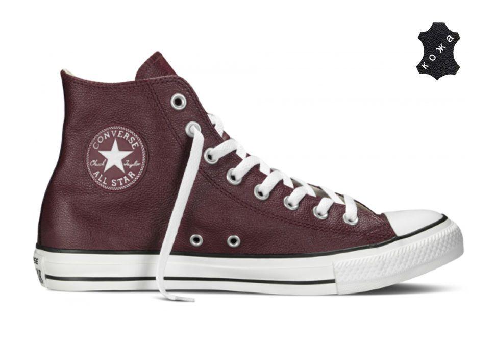 Кожаные кеды Converse Chuck Taylor All Star 149491 бордовые купить ... 8dd6418960a