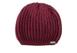 Шапка Converse Metallic Coated Beanie 527802 бордовая
