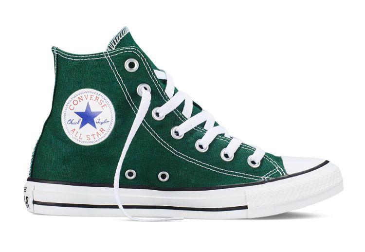 Кеды Converse (конверс) Chuck Taylor All Star 149513 тёмно-зелёные ... 22f71c61d2d