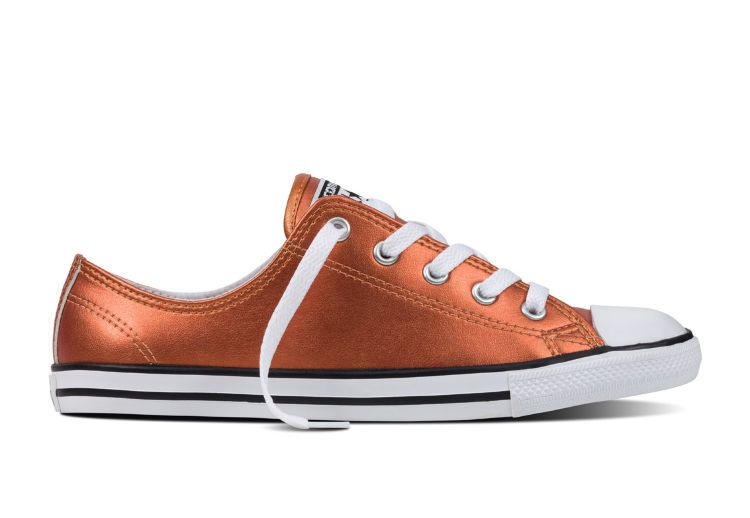 Кеды Converse Chuck Taylor All Star Dainty Metallic Leather 553338 золотые
