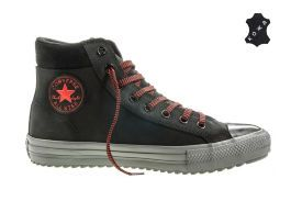 Кожаные кеды Converse Chuck Taylor All Star Converse Boot PC 153672 черные