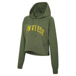 f23de756 Толстовка женская Converse Essentials Mid Pullover Hoodie 10008399322 с  капюшоном зеленая