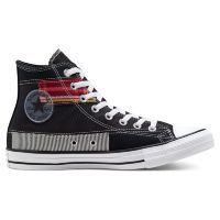 Кеды Converse Chuck Taylor All Star Patchwork Hi 168745 текстильные черные