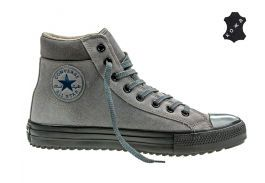 Кожаные кеды Converse Chuck Taylor All Star Converse Boot PC 153673 серые