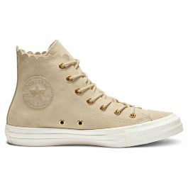 Кеды женские Converse Chuck Taylor All Star Frilly Thrills High-Top 563421 кожаные высокие