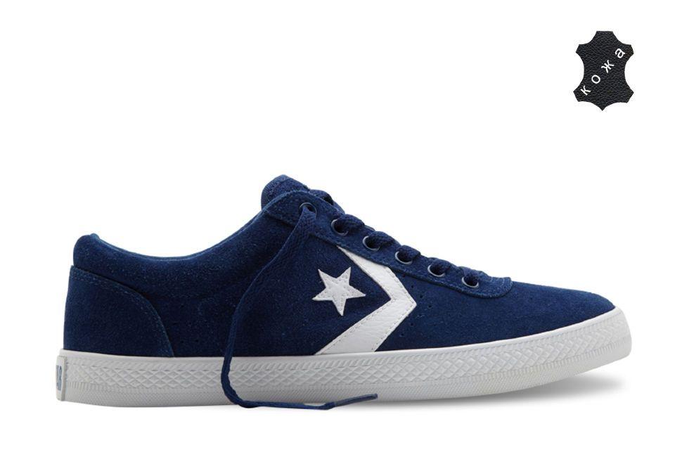 Кеды Converse (конверс) One Star Wells Ox 132890 синие купить по ... f63167f8bdd