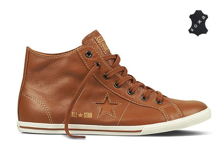 ... Кожаные кеды Converse (конверс) One Star Lo Pro Mid 132956 коричневые  dirt cheap 1ed61 ... 016e585a7a2ee