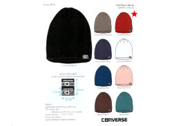Шапка Converse Solid Slouch Beanie 486154 красная