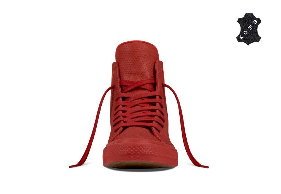 fdd7e70b1b5e Кожаные кеды Converse Chuck Taylor All Star II 155764 красные ...
