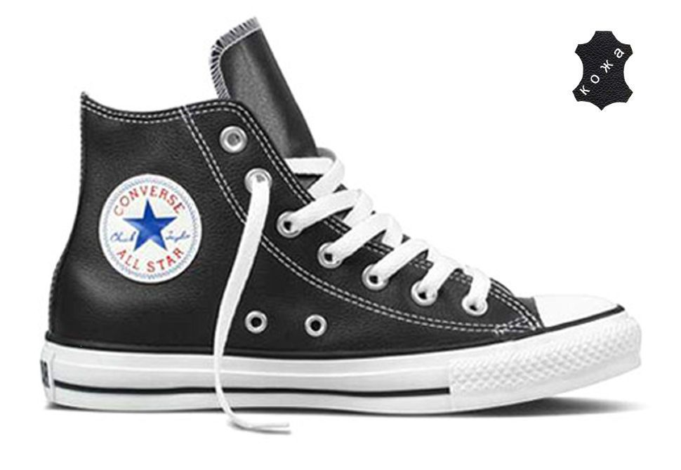 cf1c6071 Кожаные кеды Converse (конверс) Chuck Taylor All Star 132170 черные ...