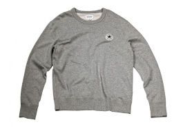 Свитшот мужской Converse Knitted Men's LS crew 10003121035 серый