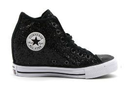 Кеды Converse CT AS Mid Lux Glitter 553138 черные