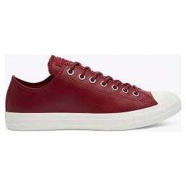 Кеды Converse Colour Leather Chuck Taylor All Star Low Top 170102 кожаные красные
