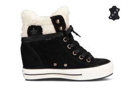 Кеды Converse (конверс) Chuck Taylor All Star Platform Plus Collar 545049 чёрные