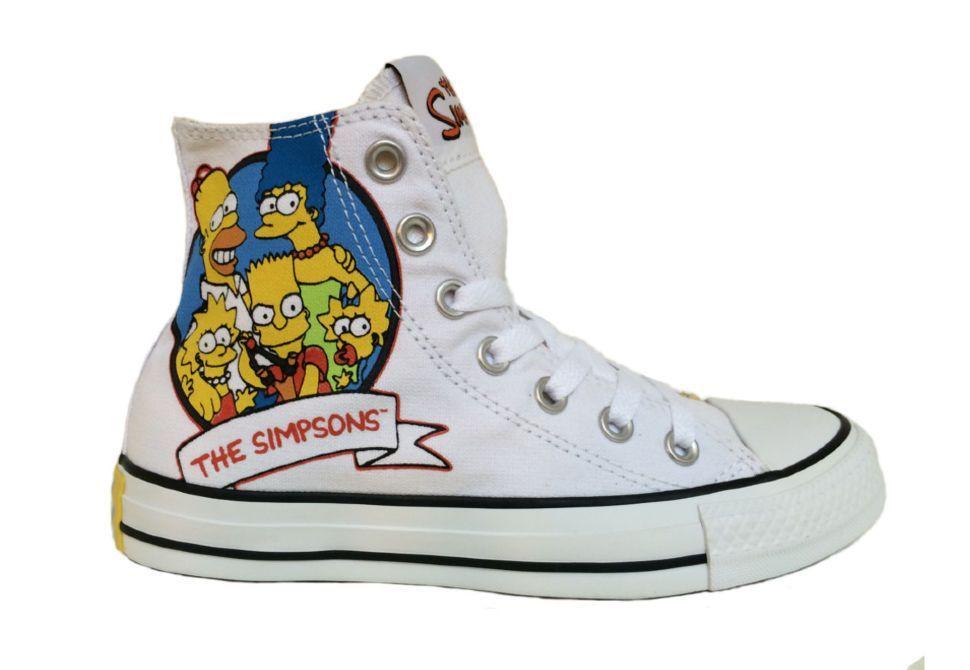 Кеды Converse (конверс) The Simpsons Chuck Taylor All Star 146809 с принтом 1e77ddec6722b