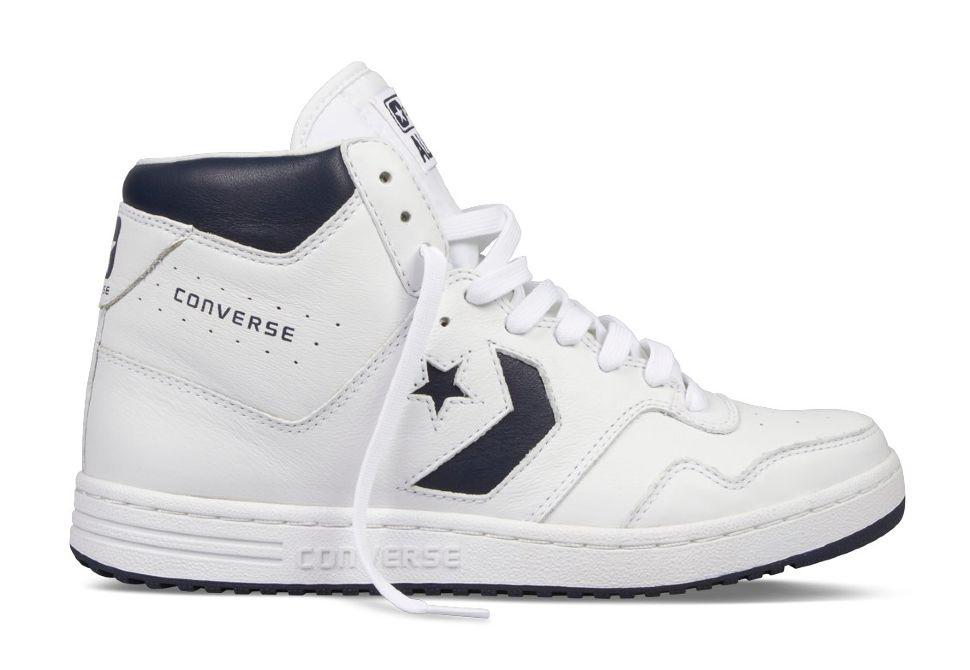Кожаные кроссовки Converse (конверс) Star Tech 121536 белые черные ... eba6d2b635c