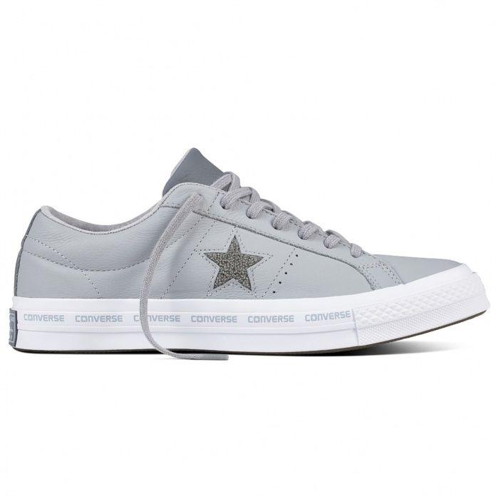 4a5b2537406d Кожаные кеды Converse One Star 159723 серые — купить конверсы за 6 ...