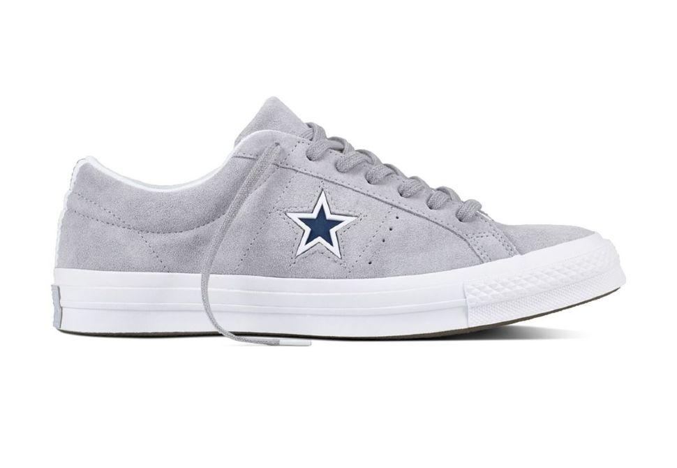 3a81387d Кожаные кеды Converse One Star 159733 серые — купить конверсы за 6 ...