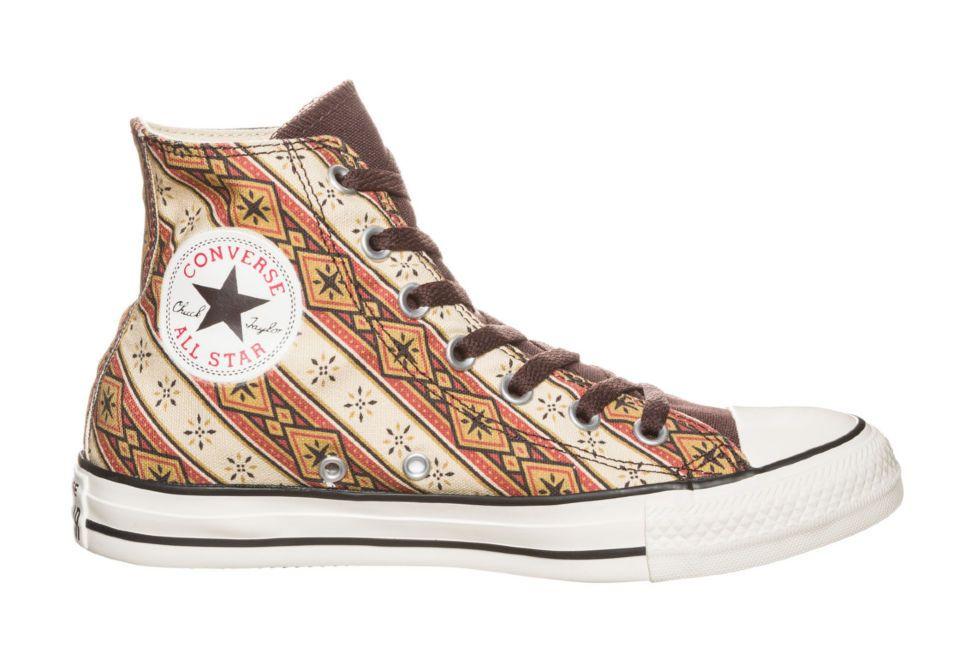 Кеды Converse (конверс) CHUCK TAYLOR ALL STAR TEXTILE HI BURNT 144678 с  принтом 3f8fbf0662c56
