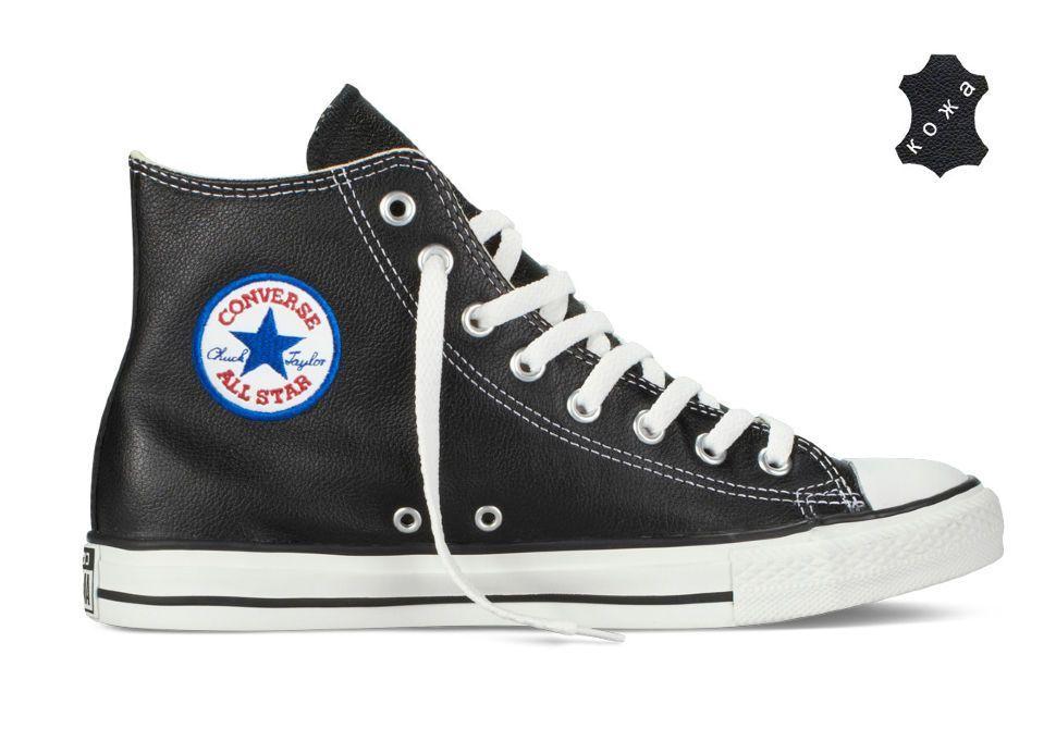 Кожаные кеды Converse Chuck Taylor All Star 1S581 черные — купить ... 057f63f66af