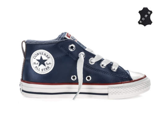 Кожаные детские кеды Converse Chuck Taylor All Star Street All Star Kids  658103 синие 3b59a93ffdc89