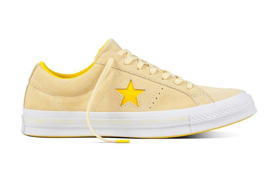 ... Кожаные кеды Converse One Star 159814 желтые authentic shoes 2b225  52609 ... 46bef3b6a41ee