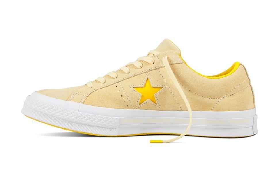 Кожаные кеды Converse One Star 159814 желтые — купить конверсы за 6 ... f3d81e092c2