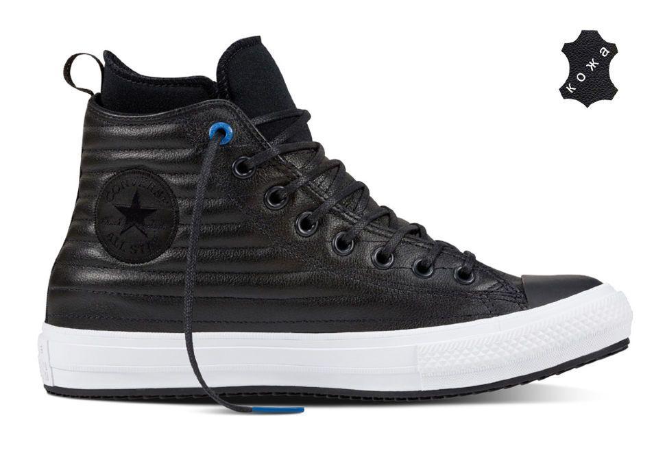 Кожаные кеды Converse Chuck Taylor WP Boot 157492 черные — купить ... da3e8ca639b