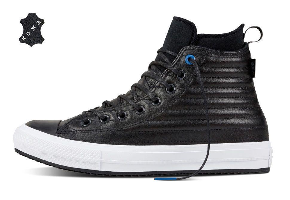 8ba66b52 Кожаные кеды Converse Chuck Taylor WP Boot 157492 черные — купить ...