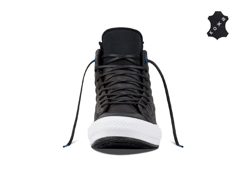 Кожаные кеды Converse Chuck Taylor WP Boot 157492 черные — купить ... 666c0701c19